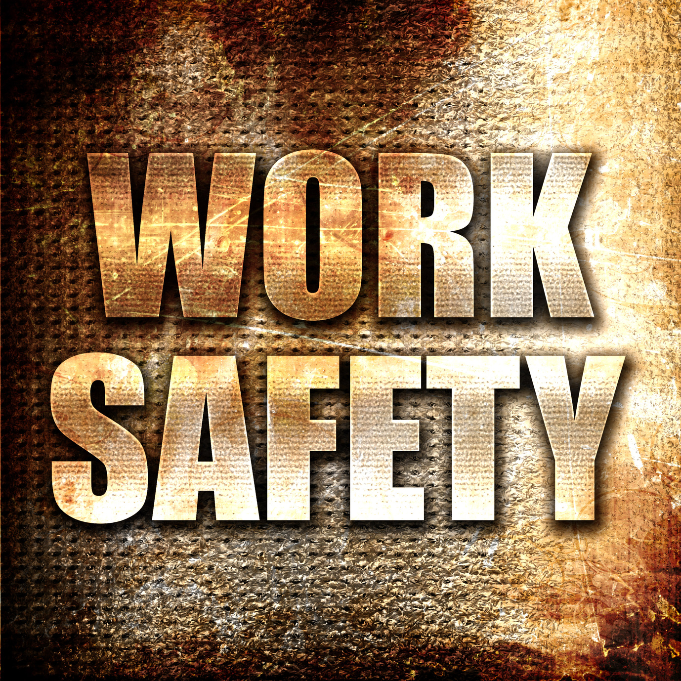 Grunge metal work safety